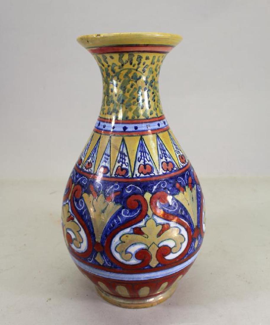 Vintage Italian Glazed Pottery Vase