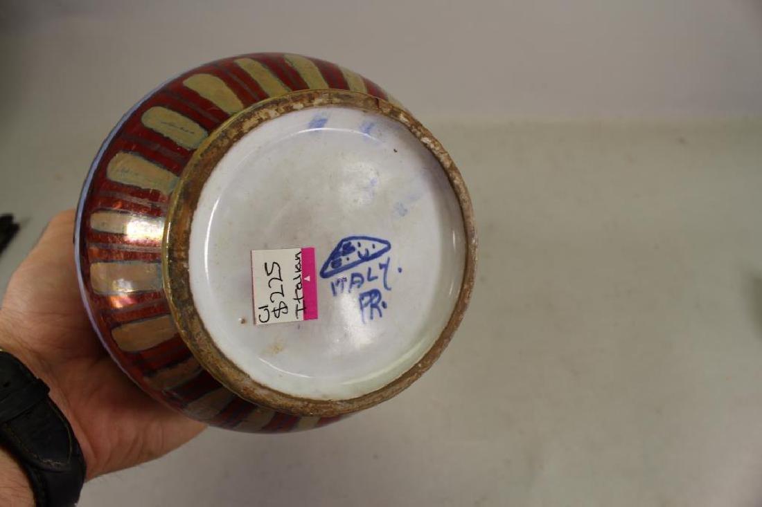 Vintage Italian Glazed Pottery Vase - 4