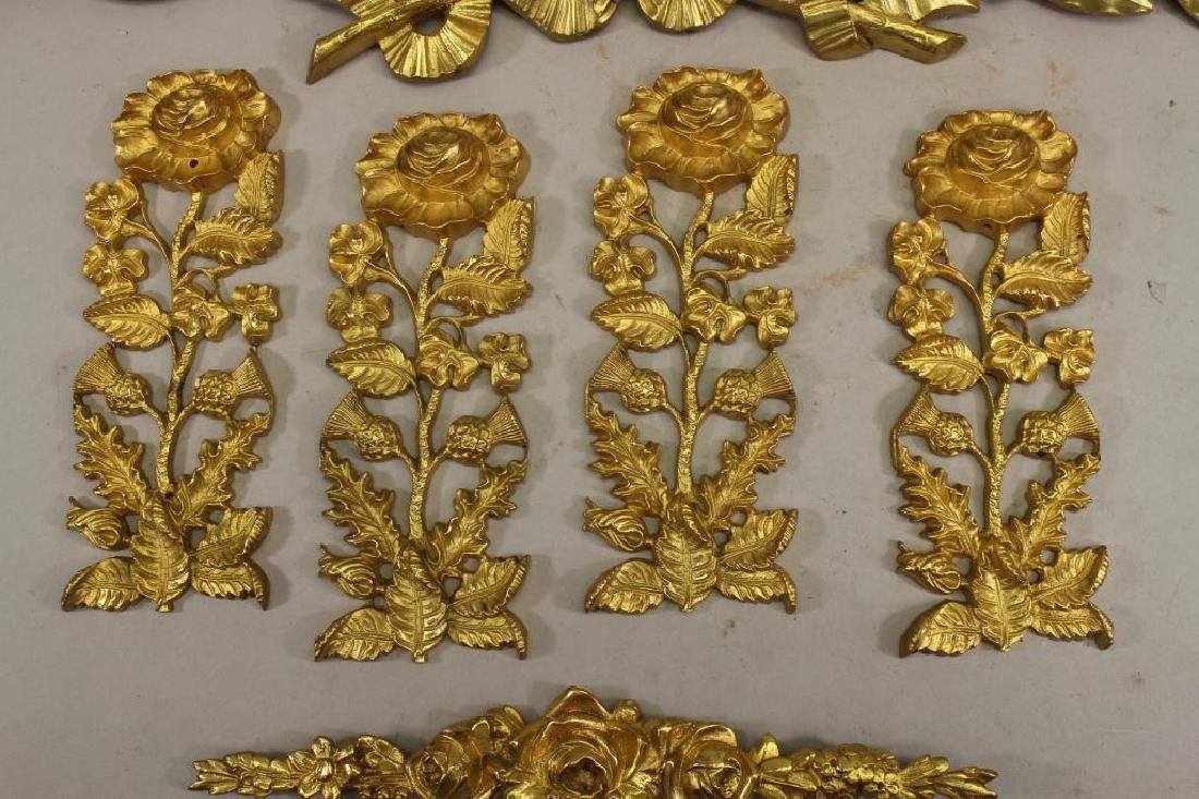 (6) French Gilt Bronze Floral Mounts - 2