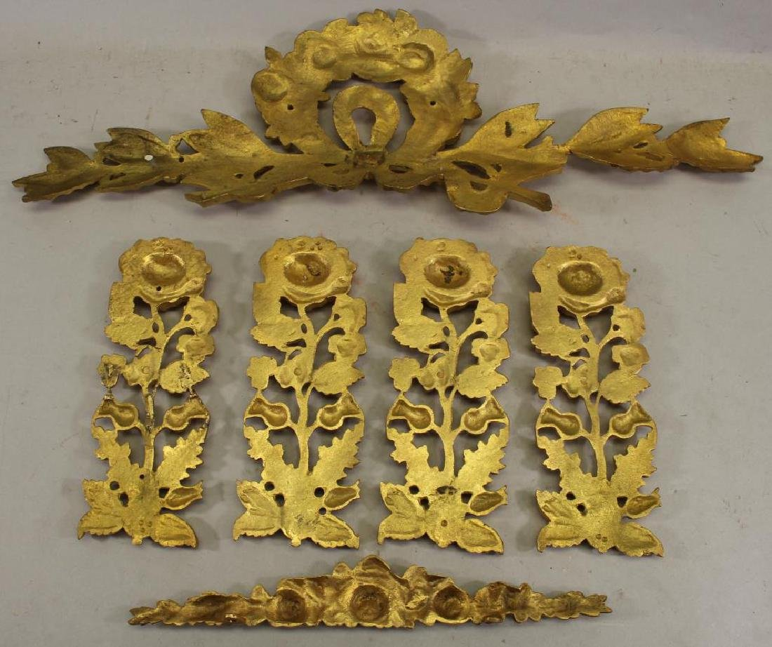 (6) French Gilt Bronze Floral Mounts - 3
