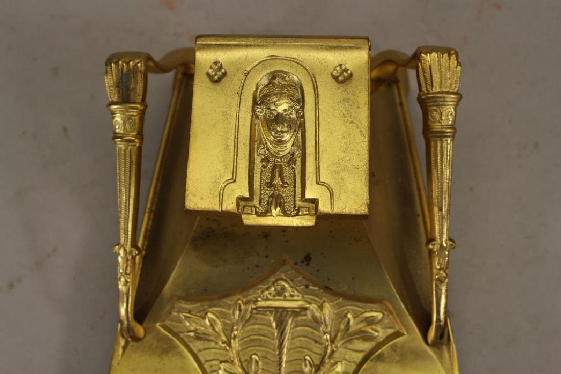 French Art Nouveau Gilt Dore Bronze Inkwell - 2
