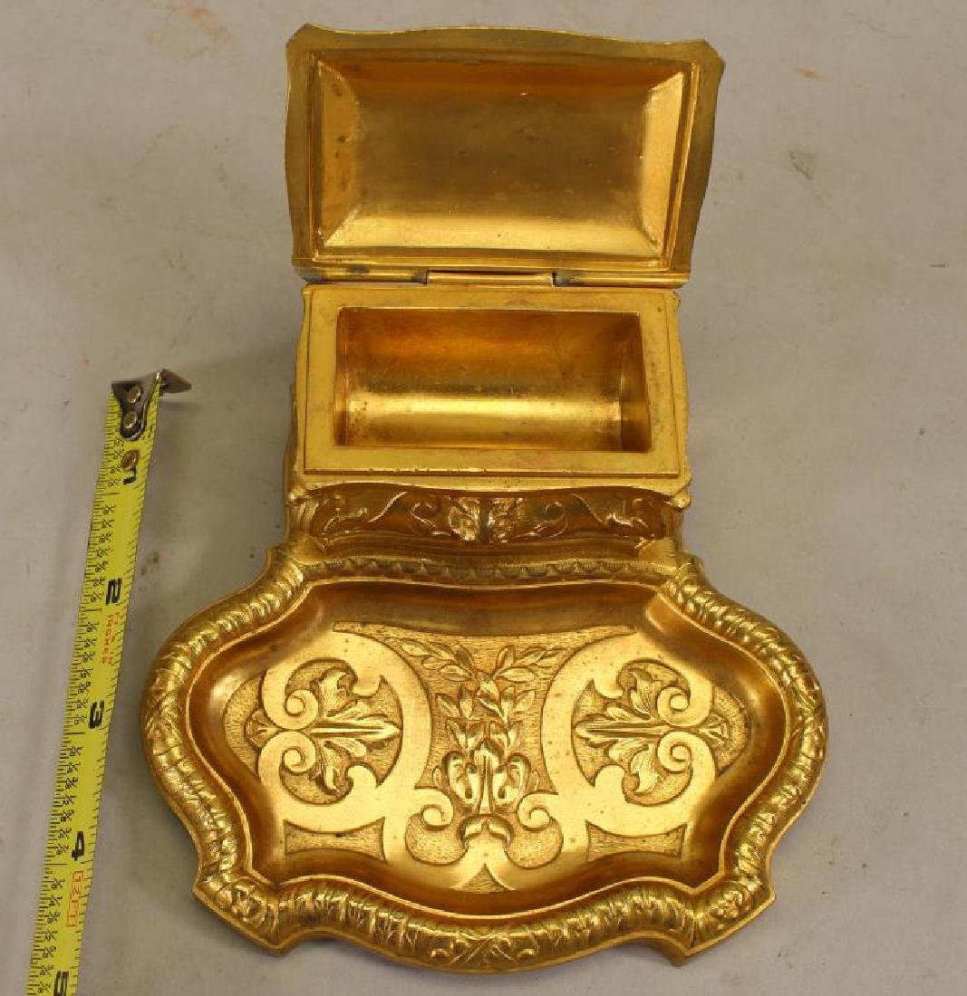 French Gilt Bronze Inkwell - 2