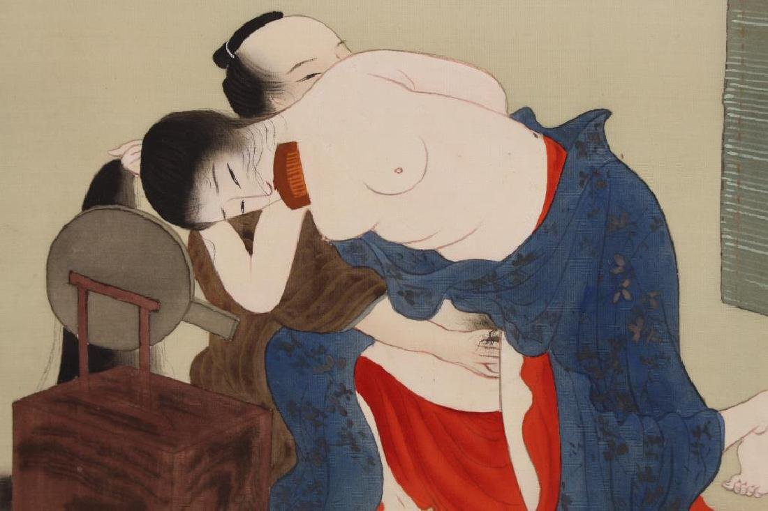 Japanese Mixed Media Erotica Painting - 2
