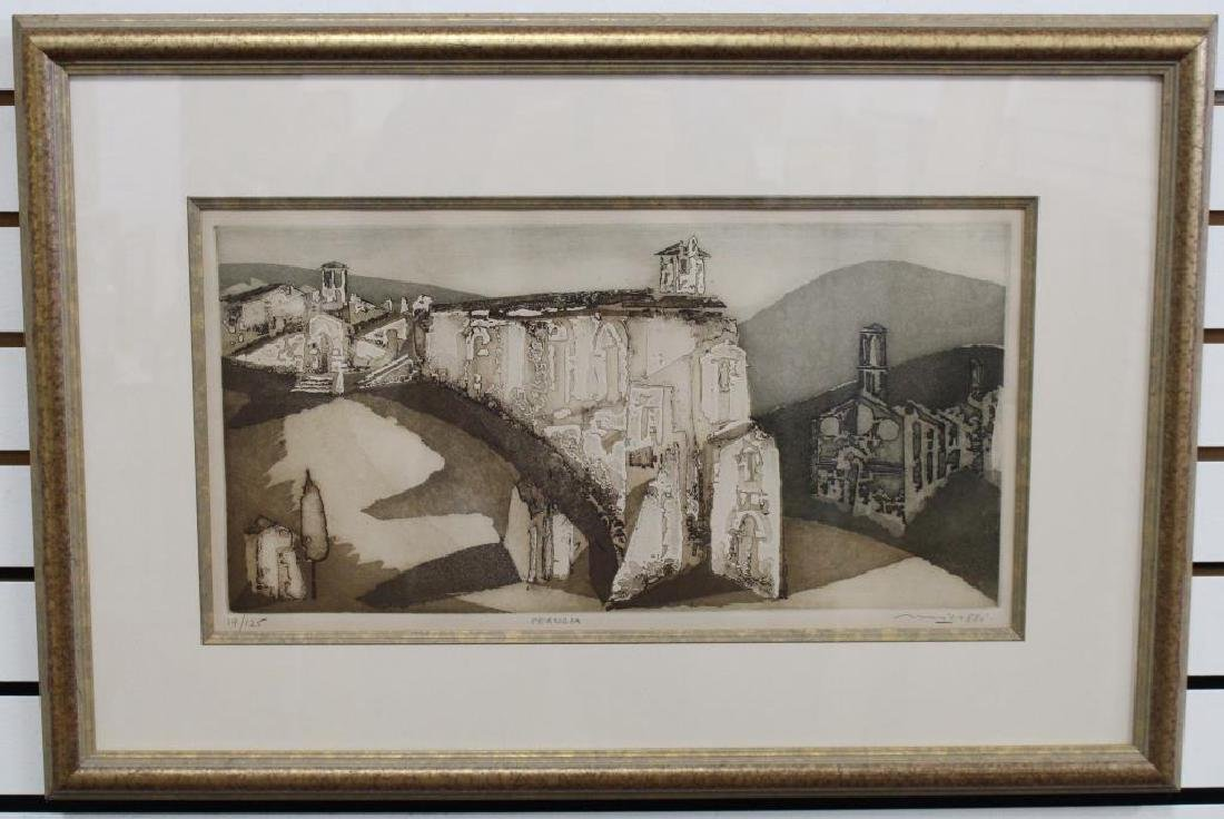 """Perugia"" 19/25 signed lithograph - 2"