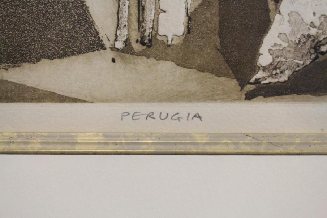 """Perugia"" 19/25 signed lithograph - 4"