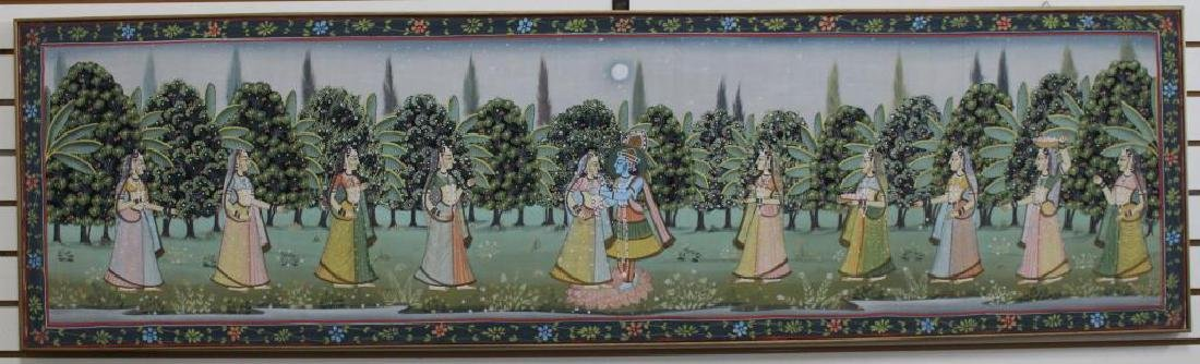 20th C. Painting of Wedding Procession, India