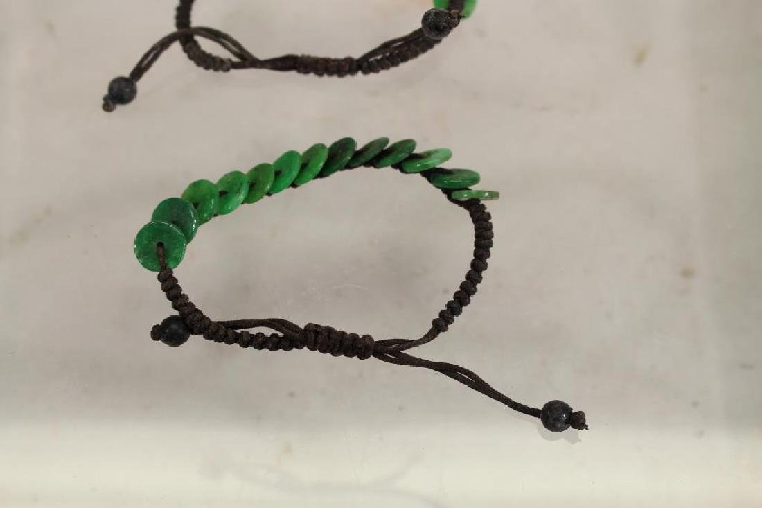 (2) Green Stone and Cord Bracelets - 3