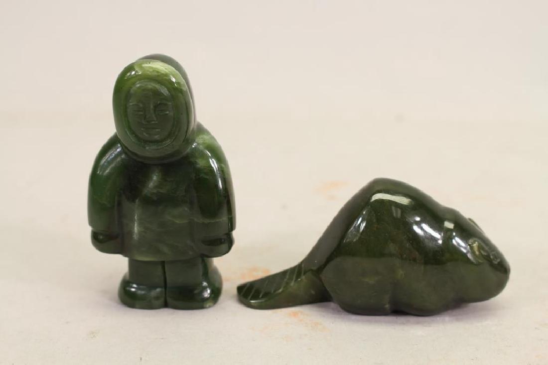 (5) Lot of Eskimo Carving Figurines - 2