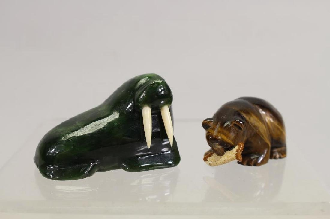 (5) Lot of Eskimo Carving Figurines - 5