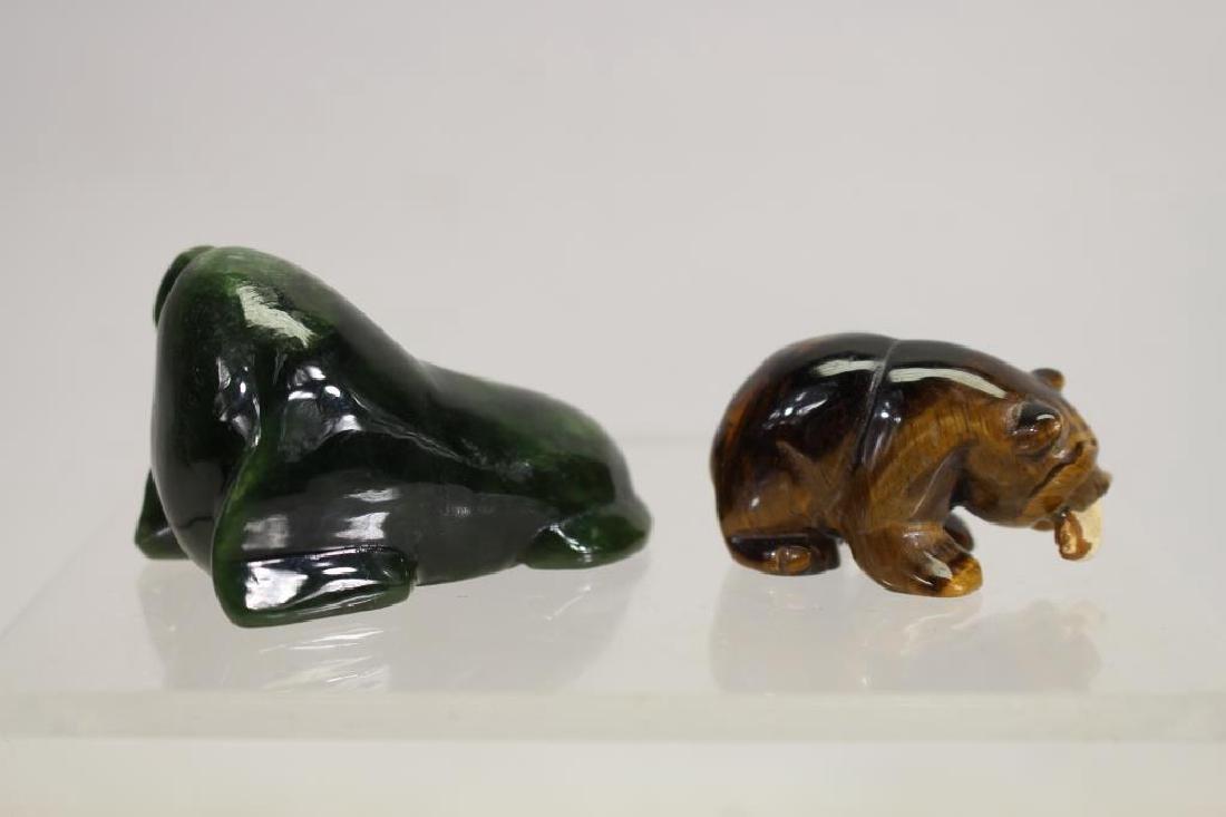 (5) Lot of Eskimo Carving Figurines - 6