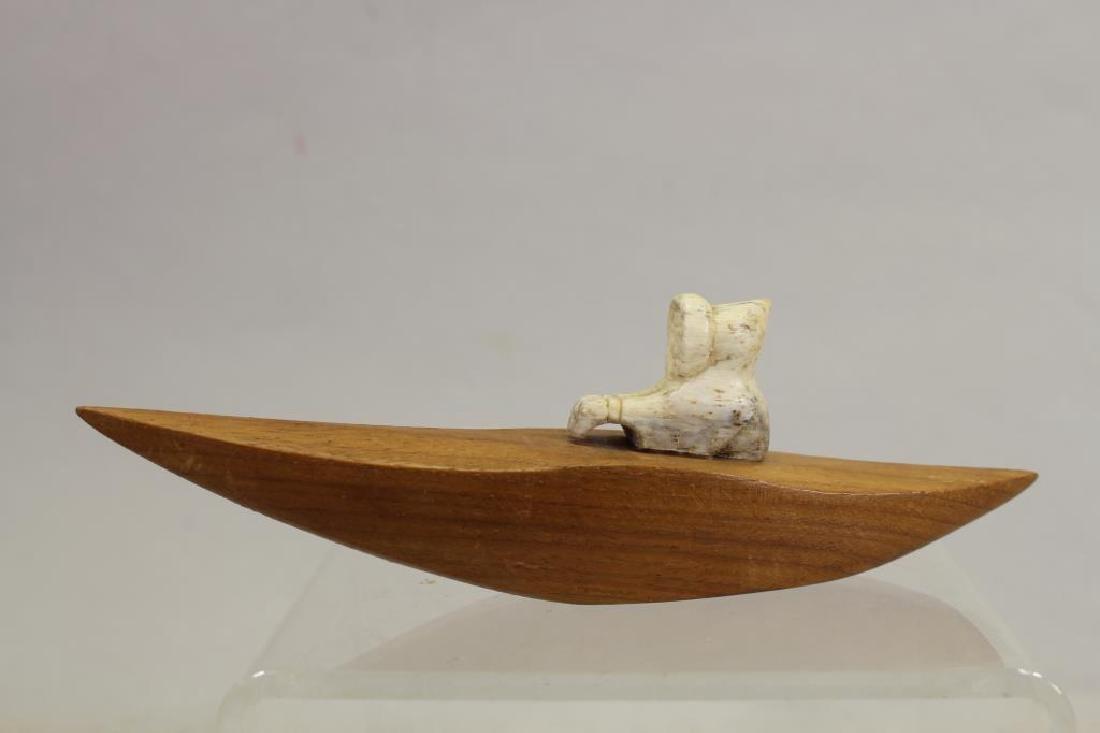 (5) Lot of Eskimo Carving Figurines - 7