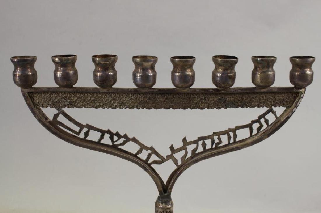Antique Silverplate Menorah - 2