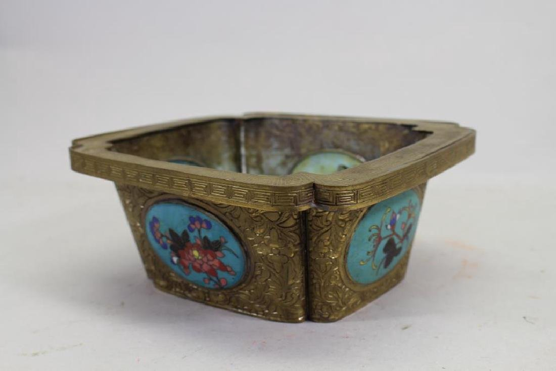 Chinese Bronze/Cloisonne Inset Box
