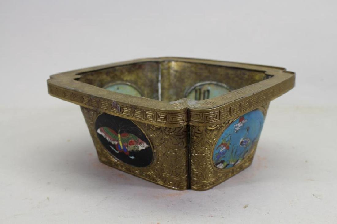 Chinese Bronze/Cloisonne Inset Box - 2