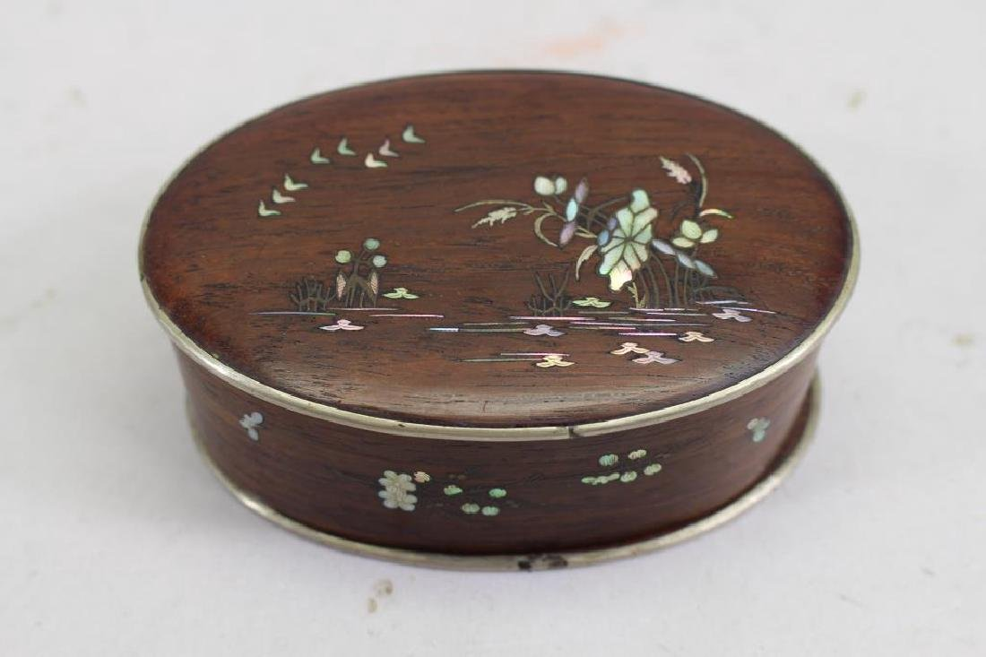 Japanese Rosewood Box w/ Mother of Pearl Inlay