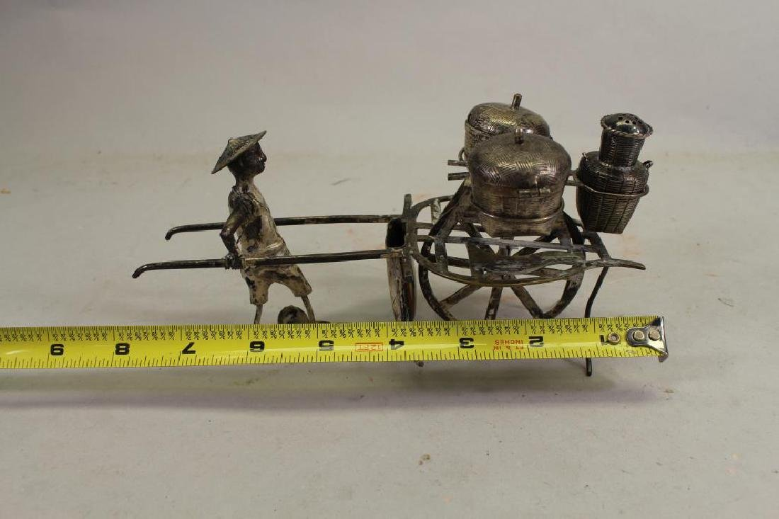 20th C. Chinese Silver Man with Cart - 3