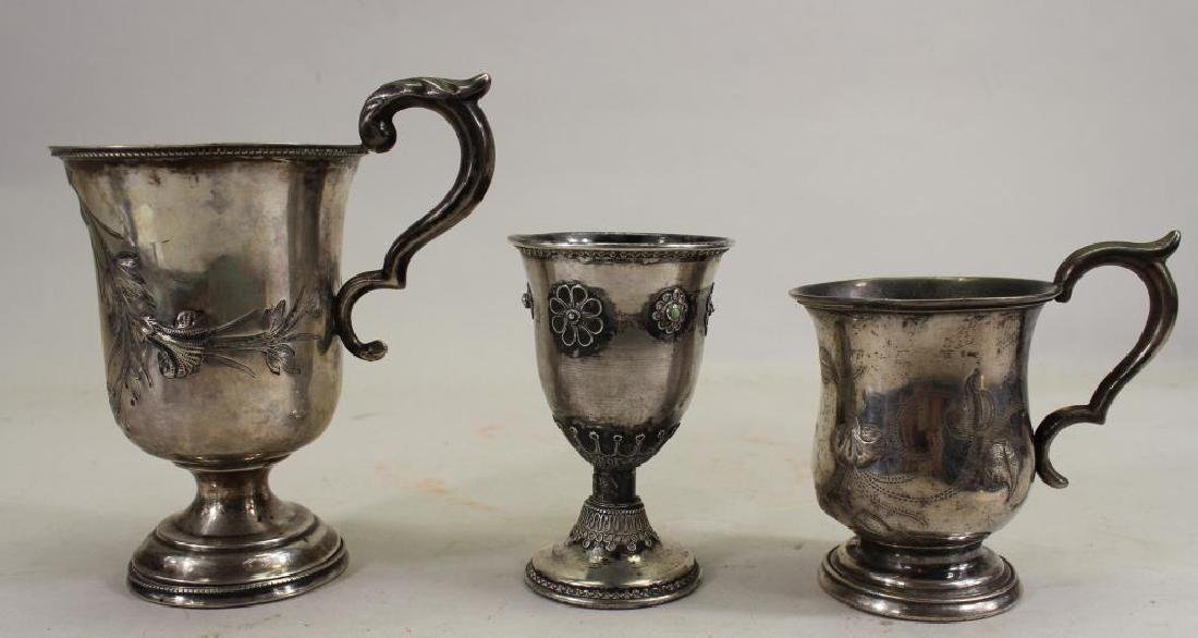 (3) Assorted Sterling Silver Cups