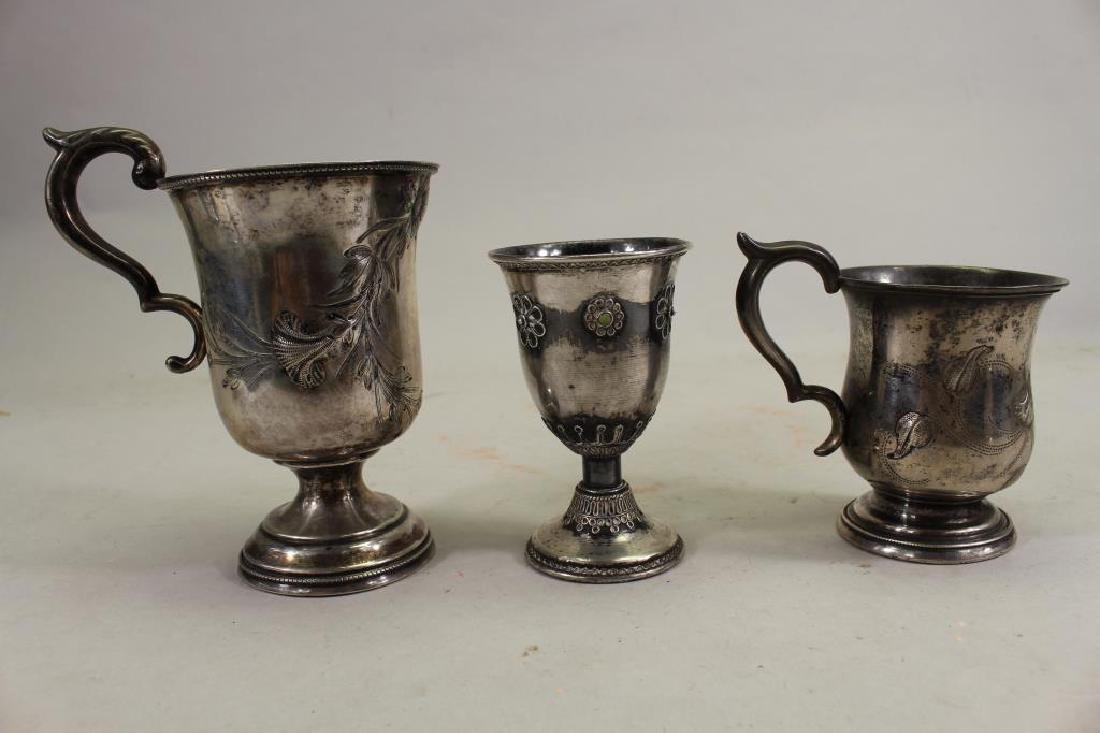 (3) Assorted Sterling Silver Cups - 2