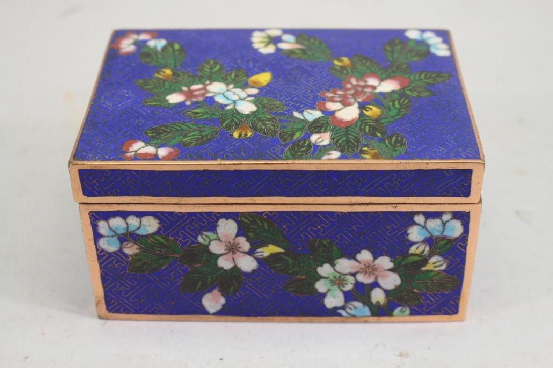 Vintage Cloisonne Jewelry Box