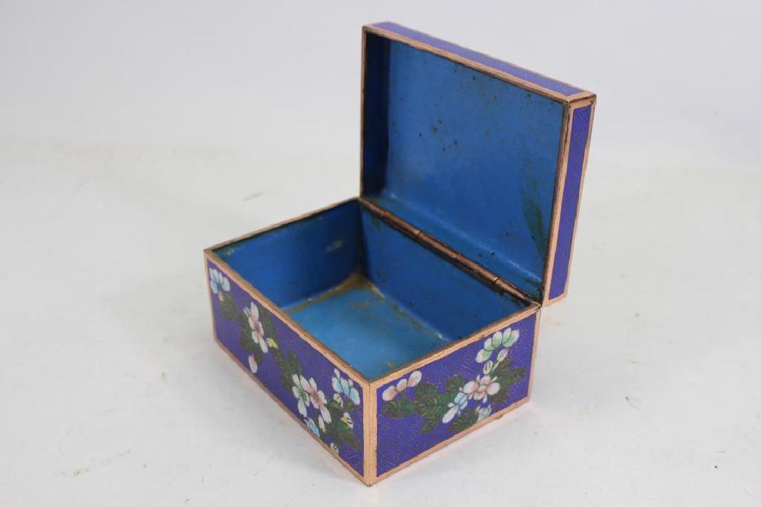 Vintage Cloisonne Jewelry Box - 2