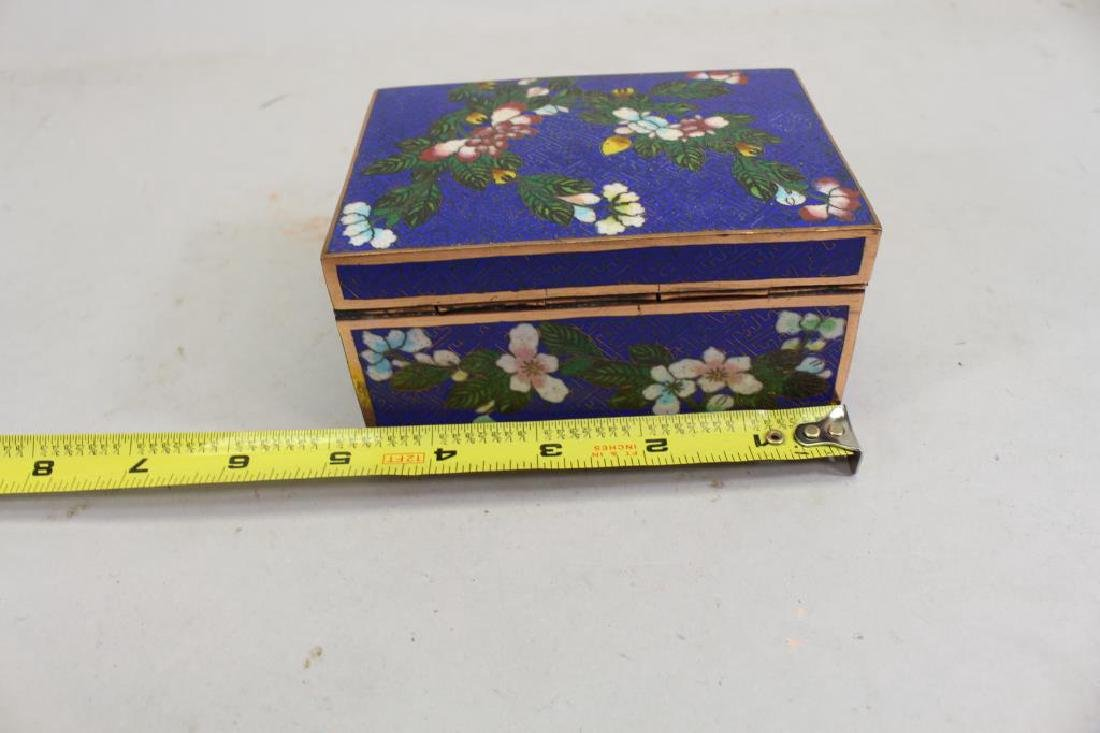 Vintage Cloisonne Jewelry Box - 3