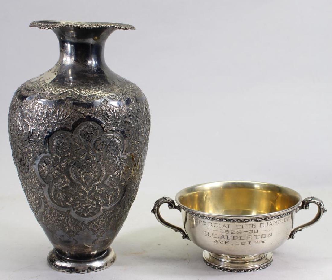 (2) Sterling Monogrammed Trophies