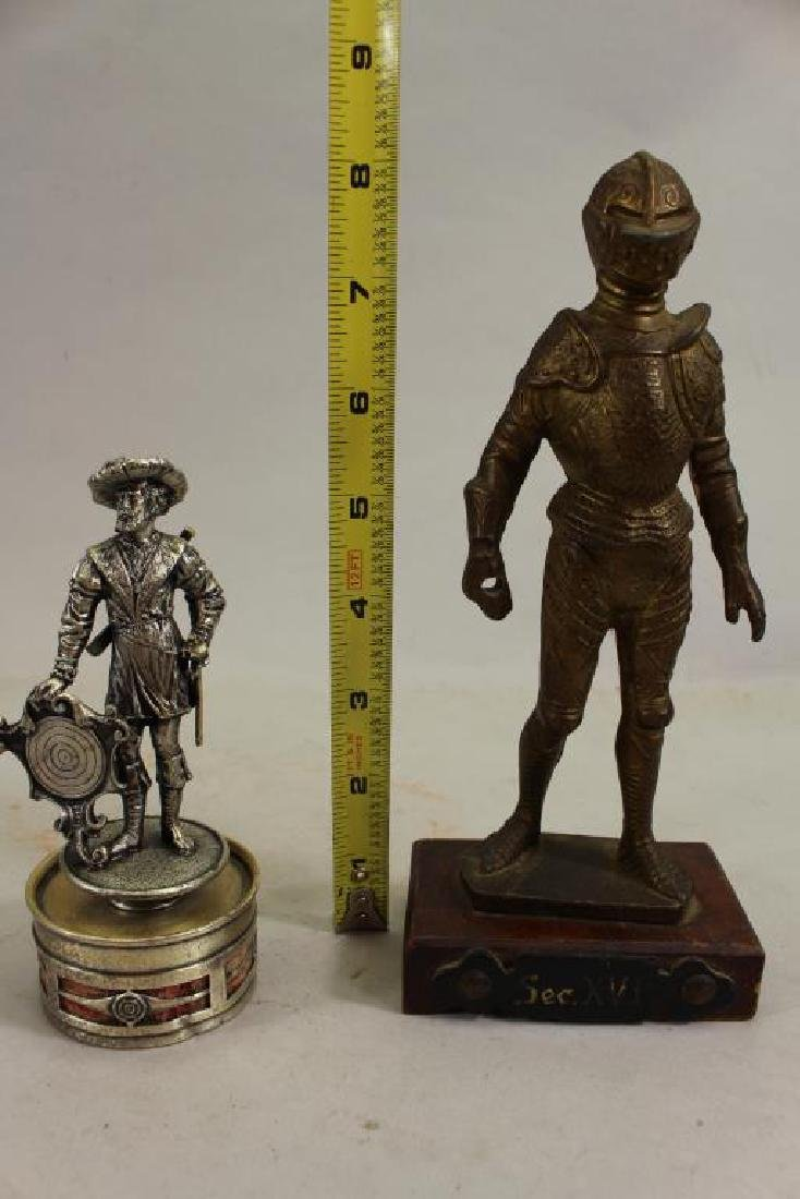 (2) Military Figures, One Silvered Bronze - 2