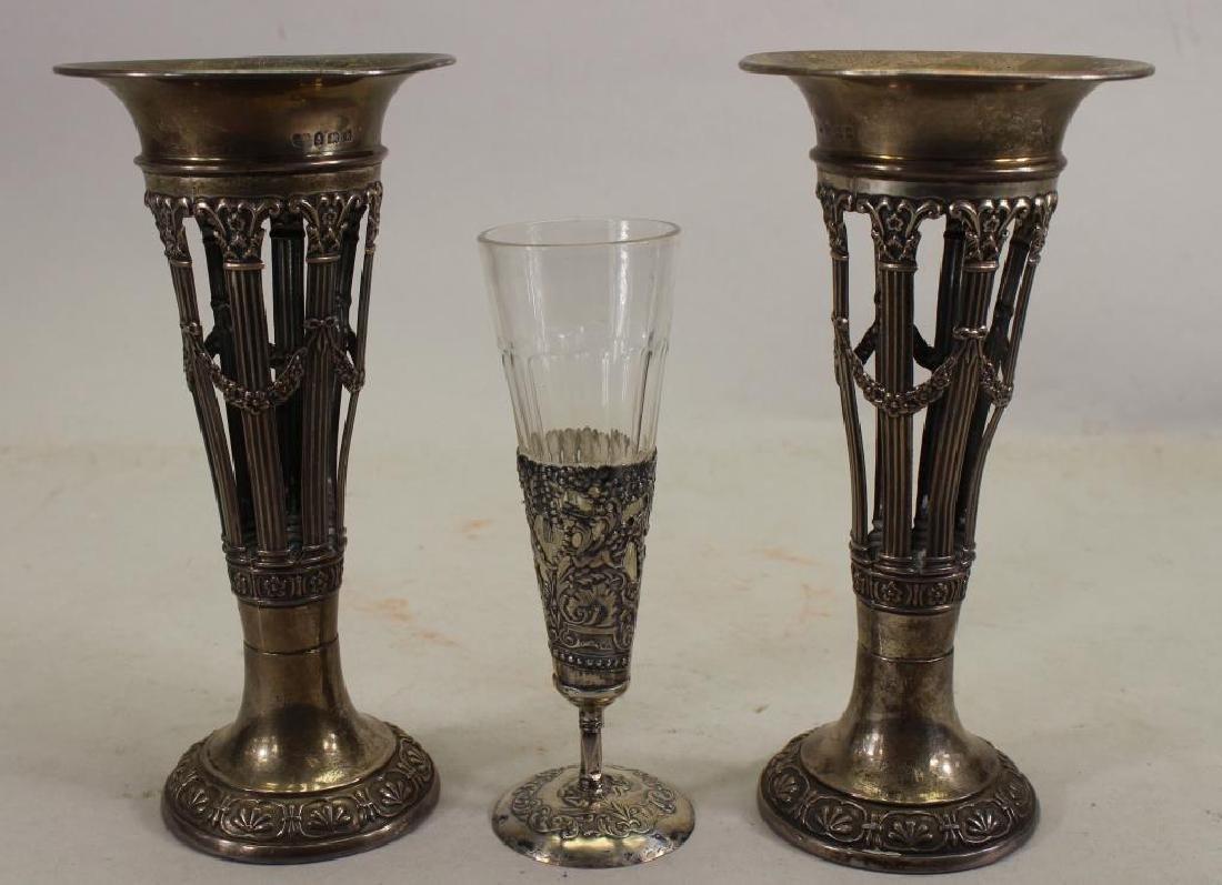 Victorian, Silver Vases