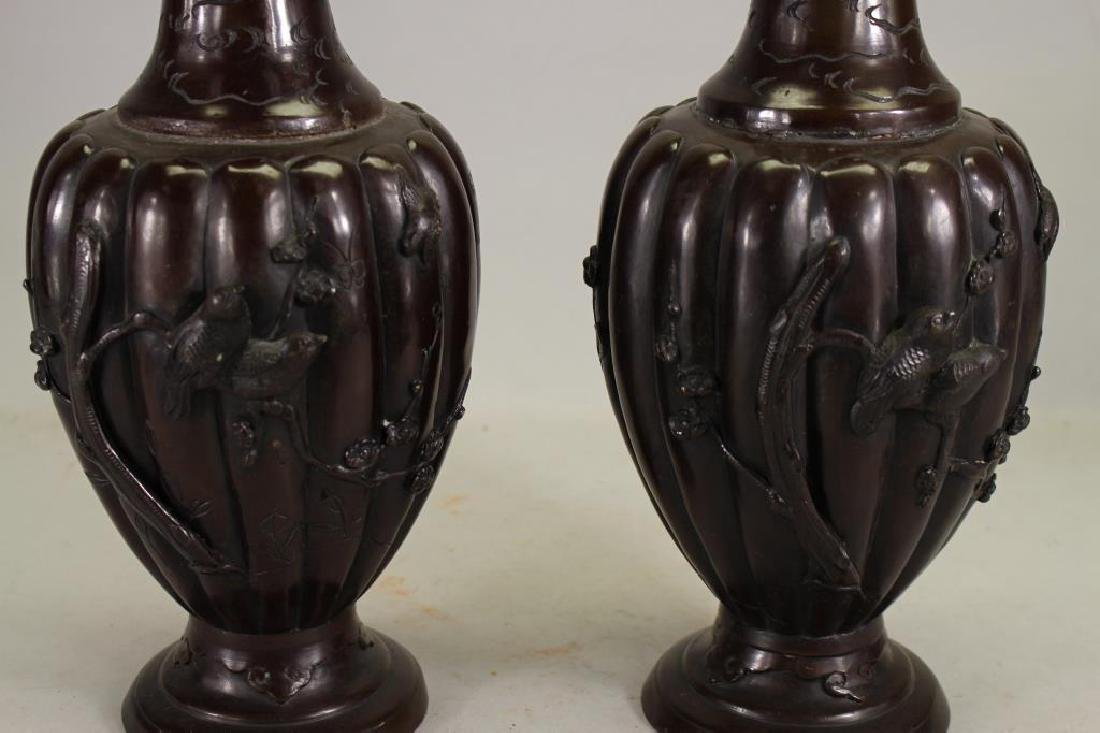 Pair of Antique French Bronze Urns - 2