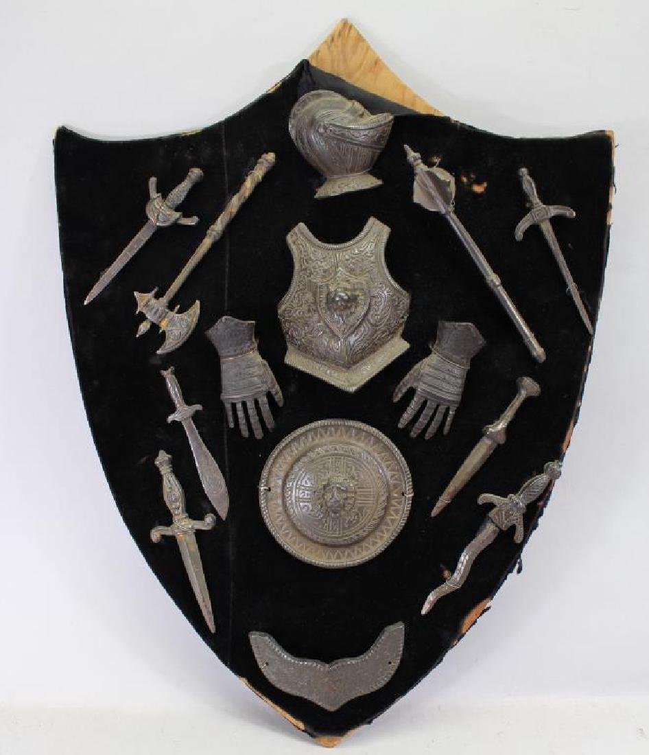 Collection of Miniature Metal Arms & Armor