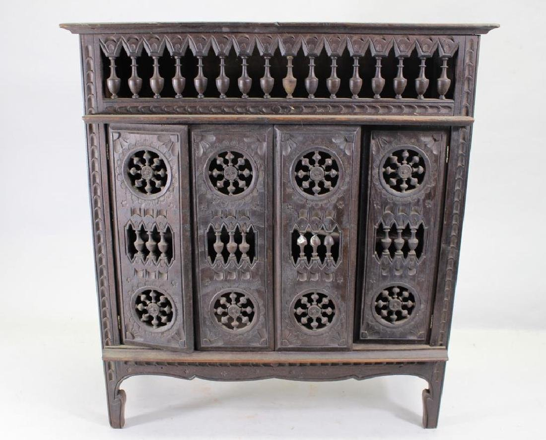 Small European Style Carved Wooden Cabinet