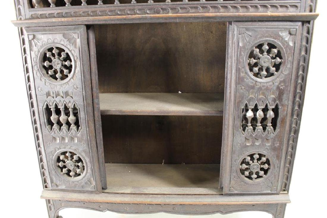 Small European Style Carved Wooden Cabinet - 2