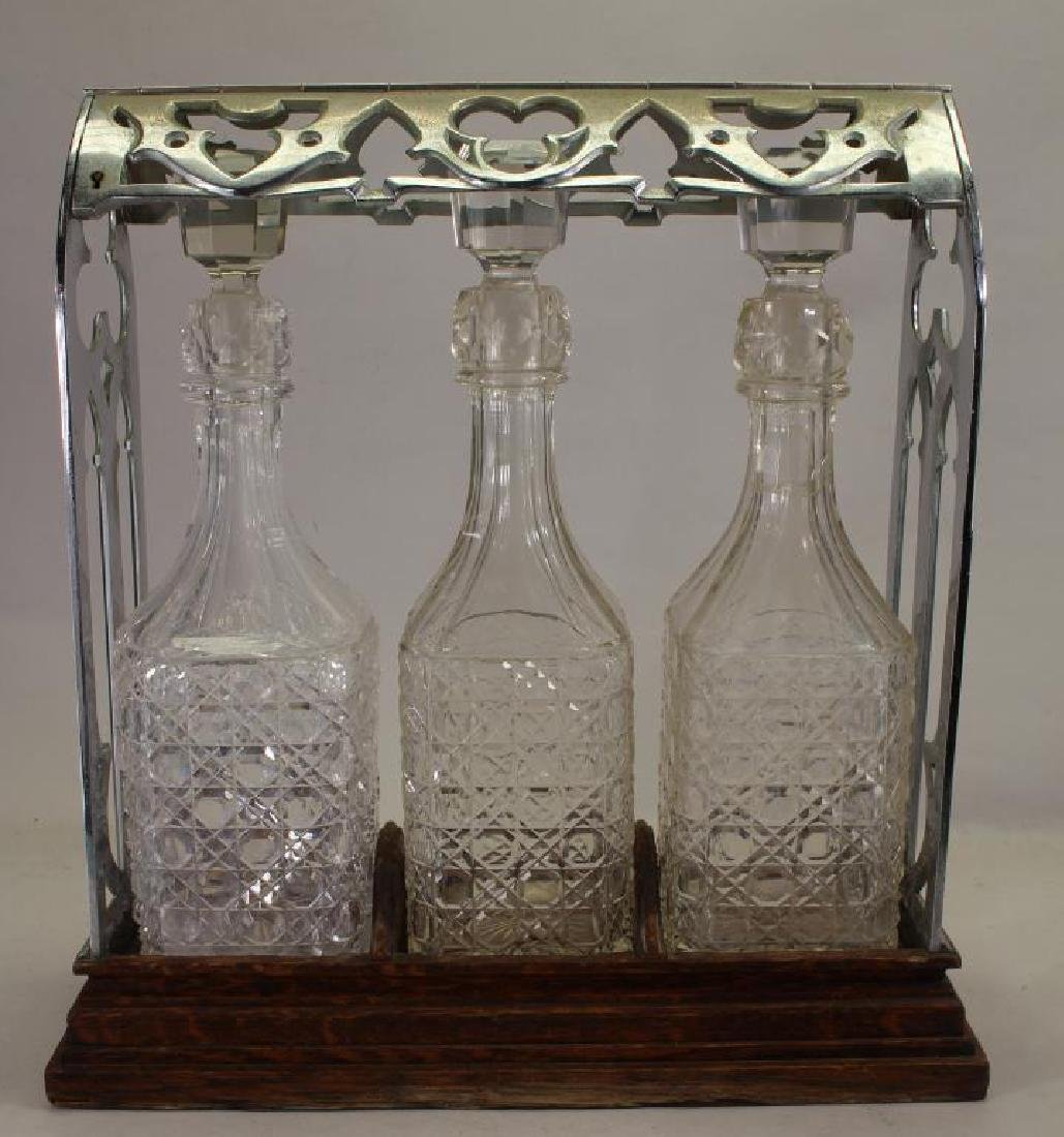 Vintage 3 Piece Decanter Set