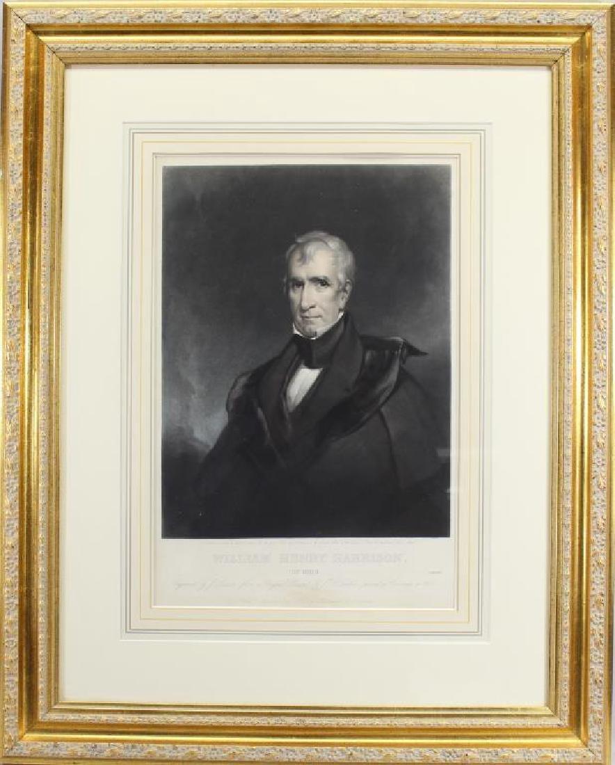 Antique Framed Engraving of William H. Harrison