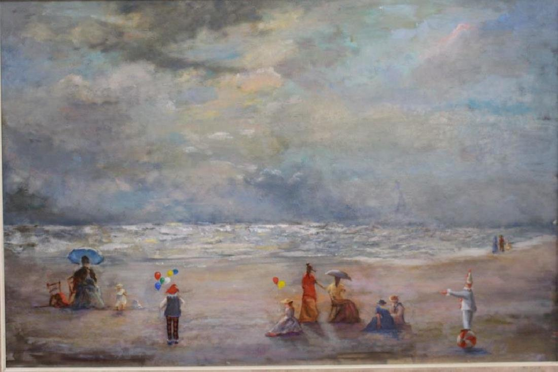 20th C. American School Beach Scene w/ Figures
