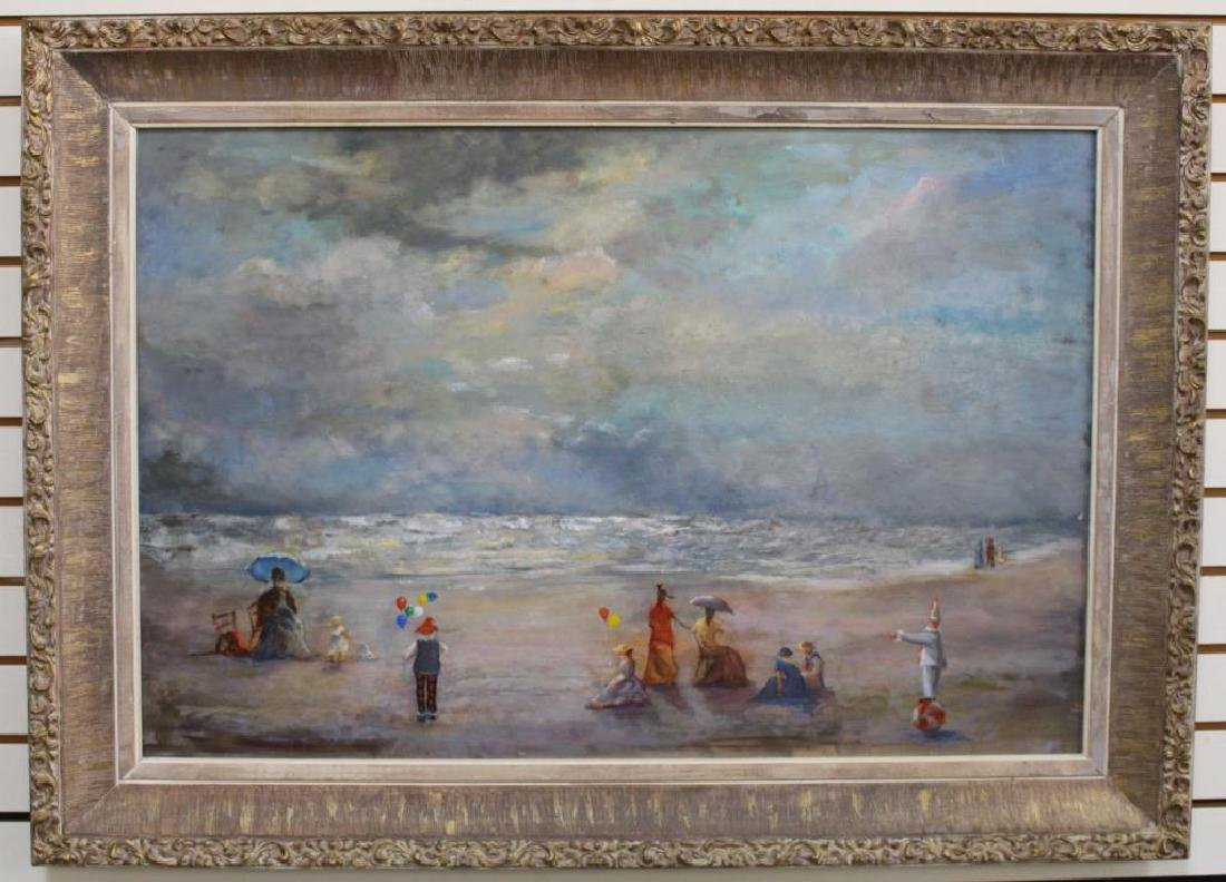 20th C. American School Beach Scene w/ Figures - 2