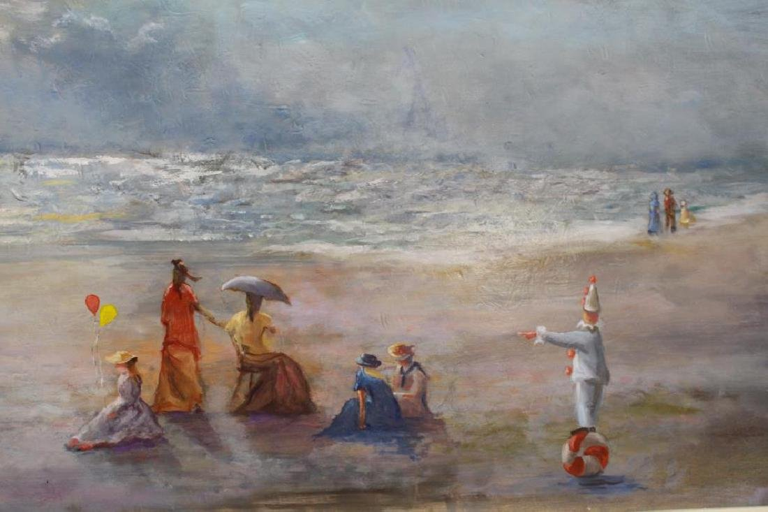 20th C. American School Beach Scene w/ Figures - 3