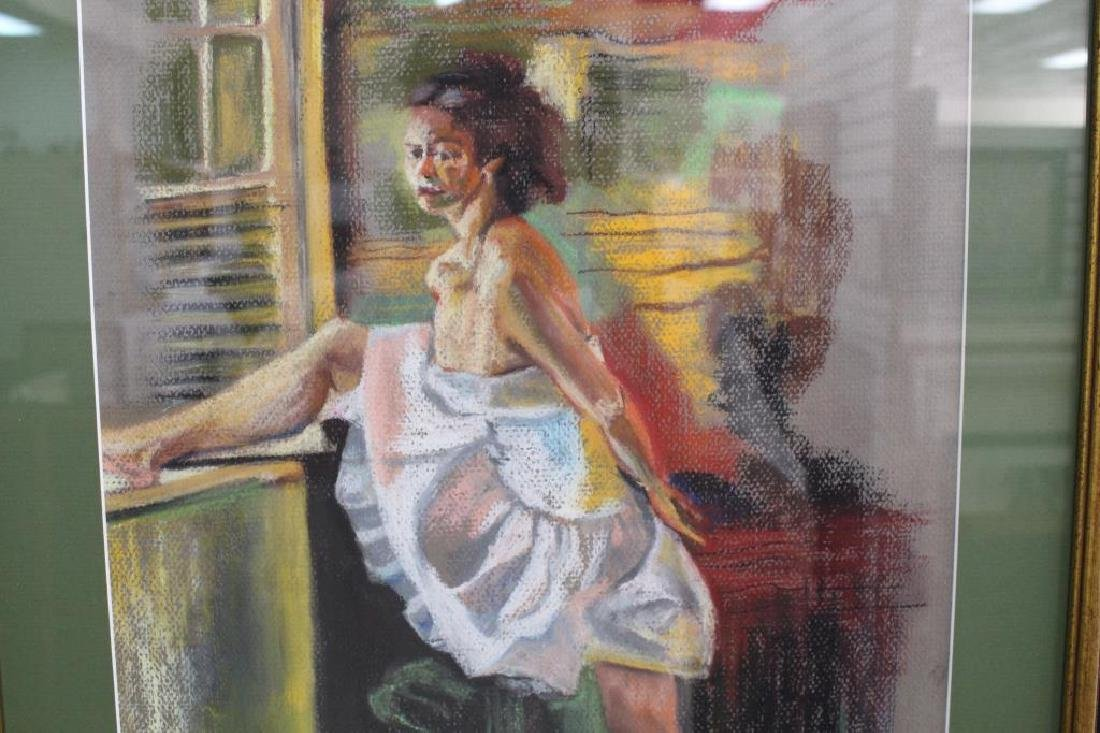 Signed Pastel of Ballet Dancer, 20th C. - 5