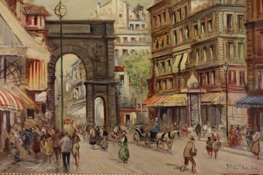 Early 20th C. Paris Street Scene with Figures - 2