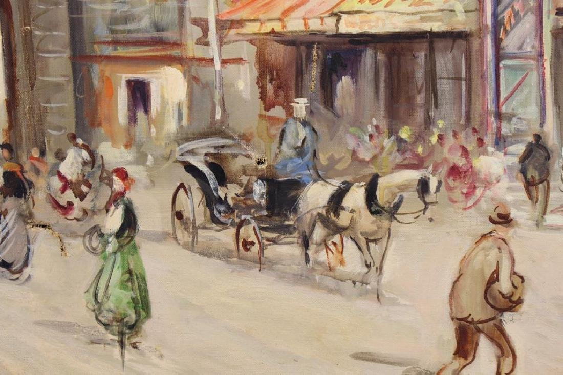 Early 20th C. Paris Street Scene with Figures - 3