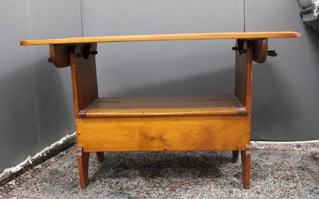 Antique Tilt Top Hutch Table