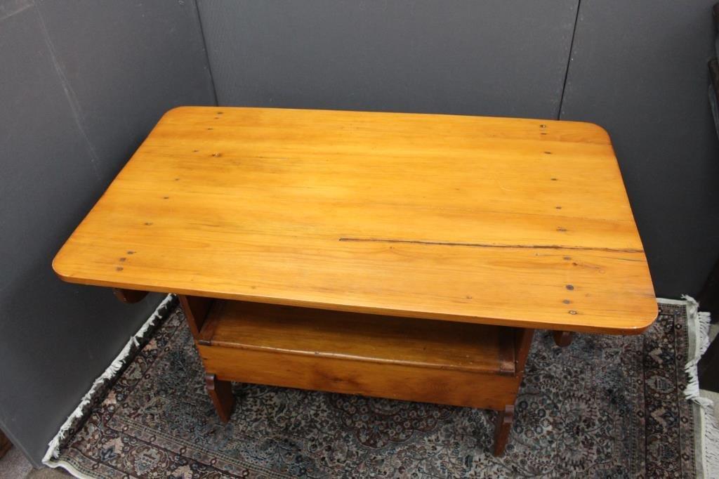 Antique Tilt Top Hutch Table - 2