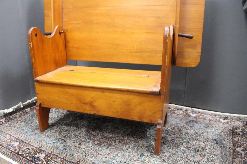 Antique Tilt Top Hutch Table - 4