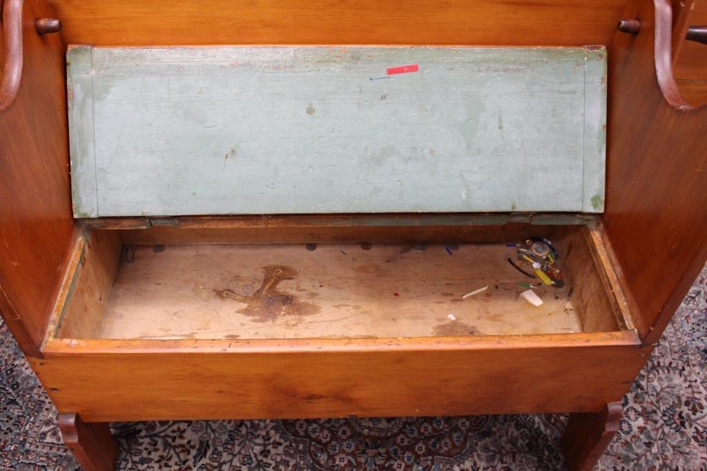 Antique Tilt Top Hutch Table - 5