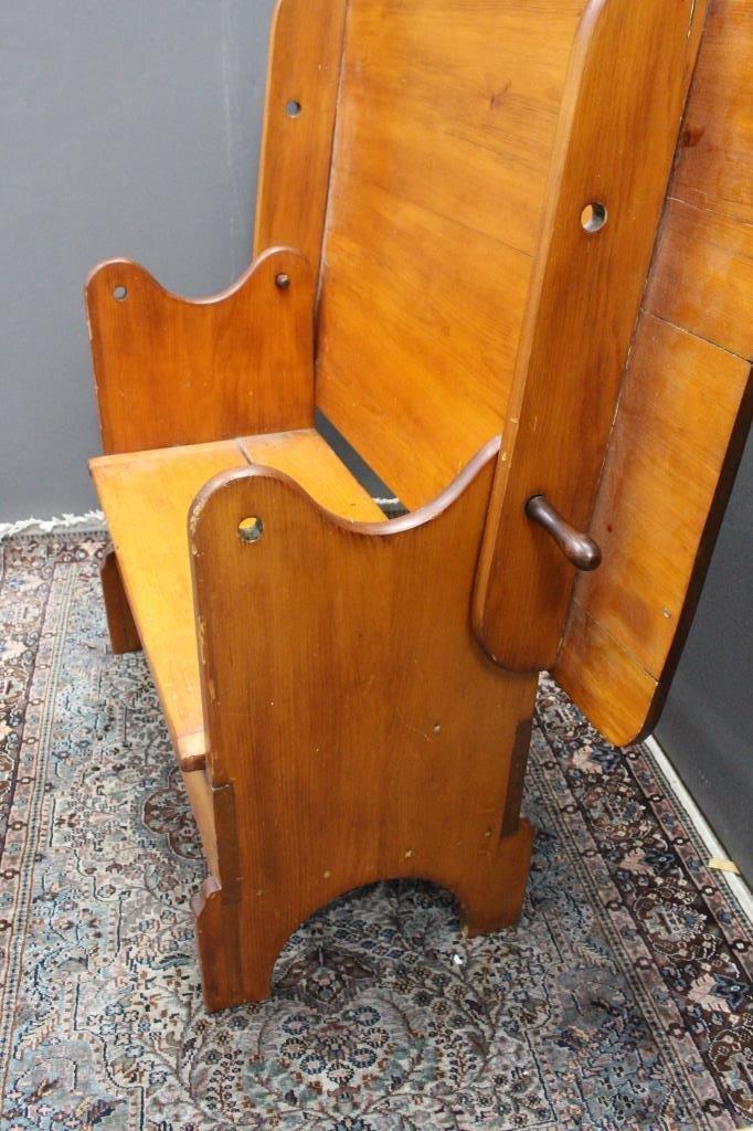 Antique Tilt Top Hutch Table - 6