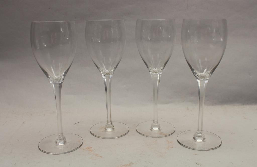 (4) Signed Cartier Wine Glasses