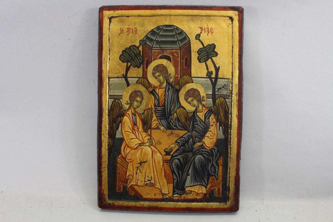 "Russian Icon ""The Holy Trinity"""