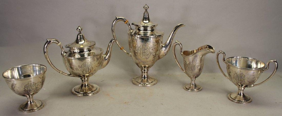Monogrammed Schofield Sterling Silver Tea Set