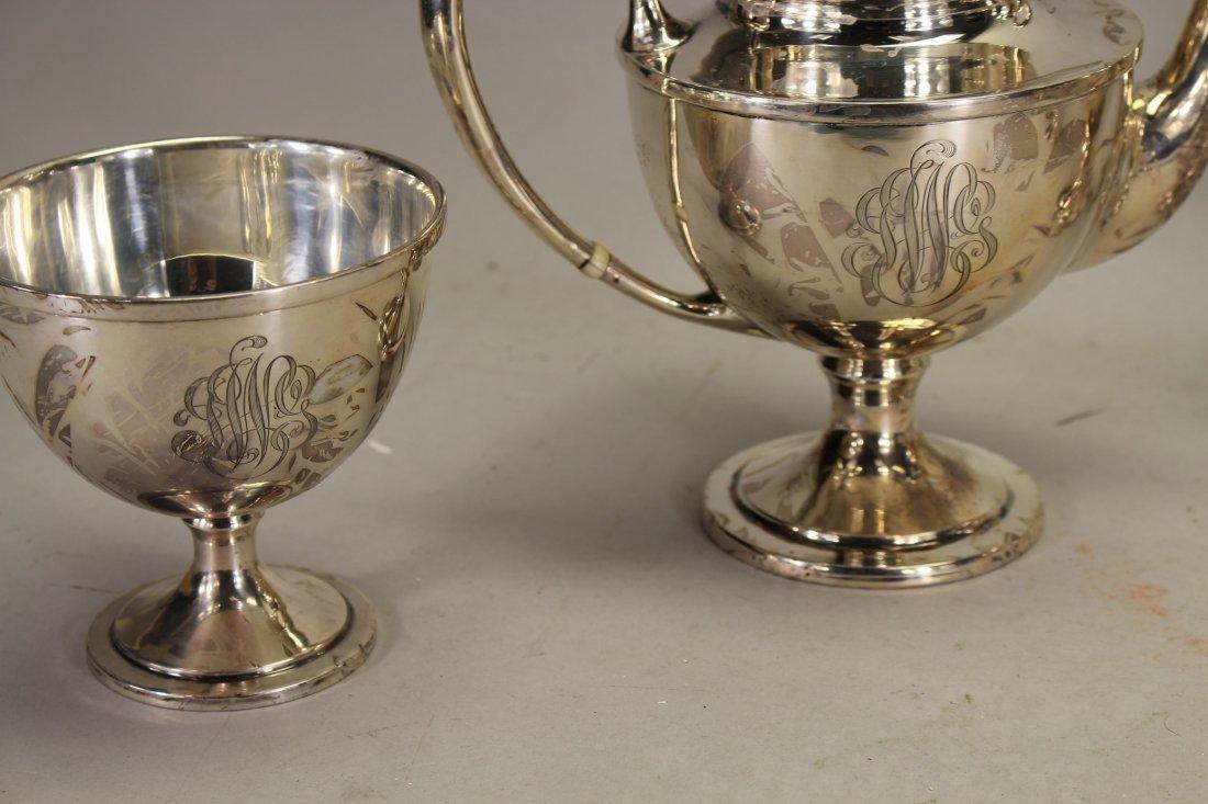 Monogrammed Schofield Sterling Silver Tea Set - 2