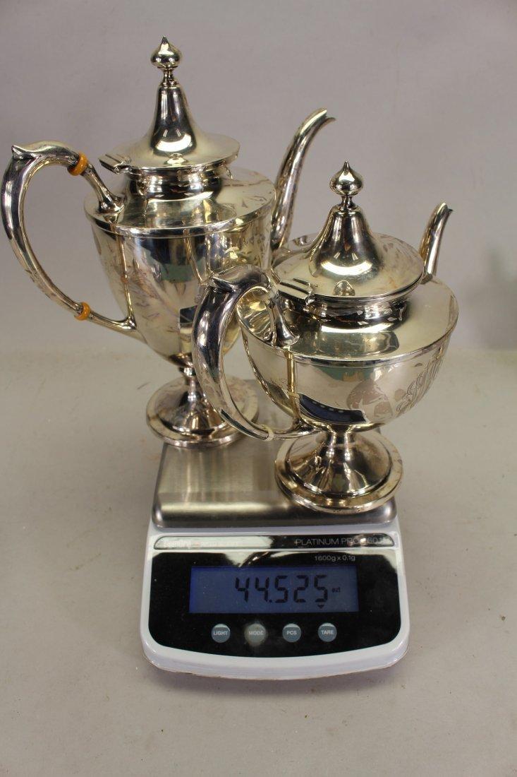 Monogrammed Schofield Sterling Silver Tea Set - 6